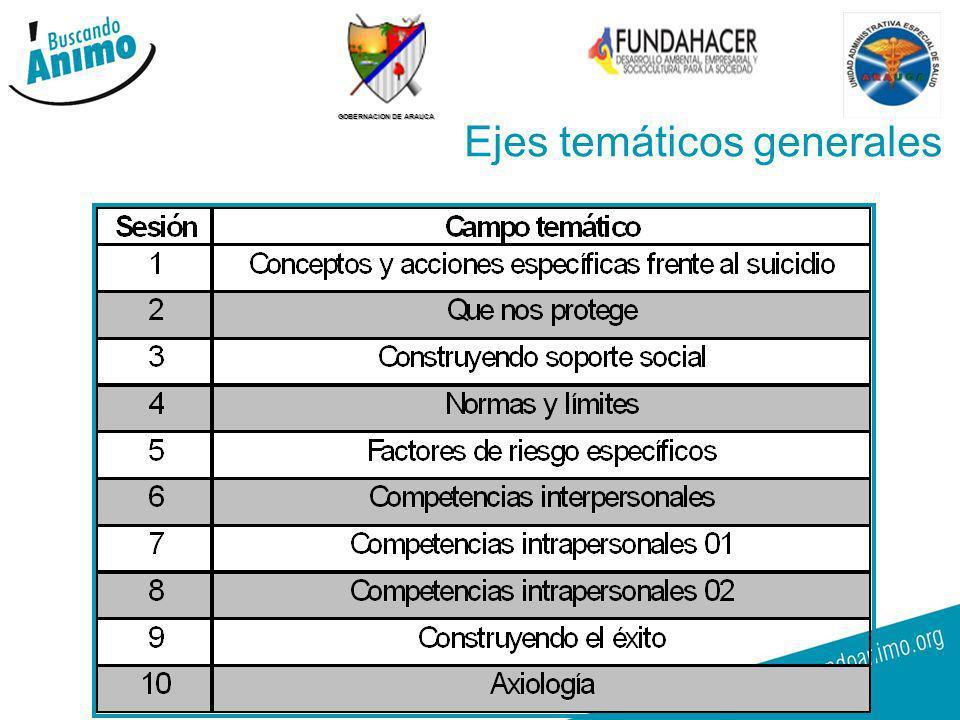 GOBERNACION DE ARAUCA 15 Ejes temáticos generales