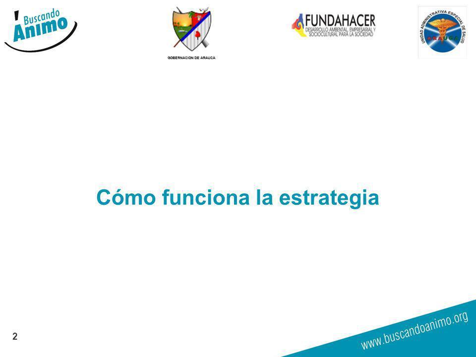 GOBERNACION DE ARAUCA Cómo funciona la estrategia 2