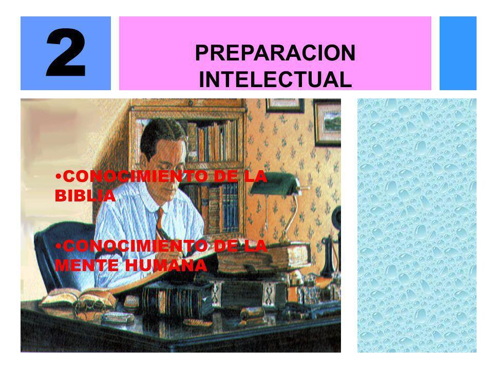 PREPARACION INTELECTUAL 2 CONOCIMIENTO DE LA BIBLIA CONOCIMIENTO DE LA MENTE HUMANA