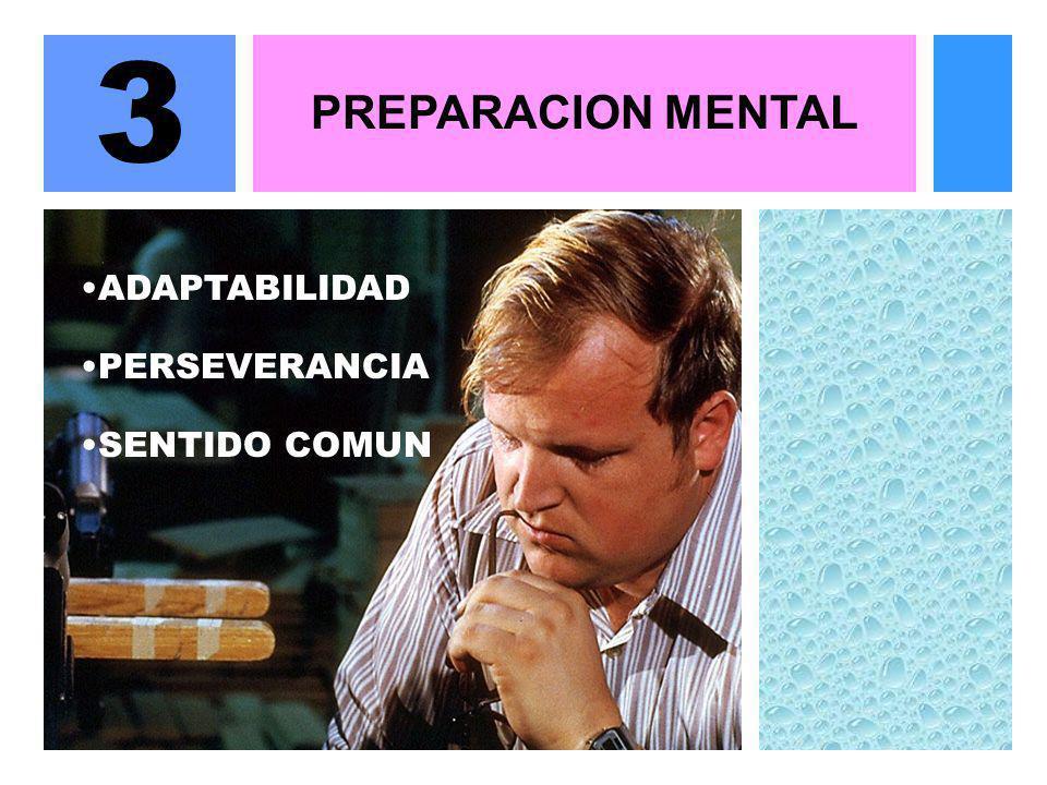 PREPARACION MENTAL 3 ADAPTABILIDAD SENTIDO COMUN PERSEVERANCIA