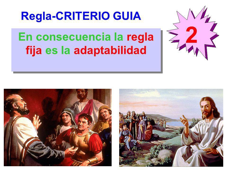 Regla-CRITERIO GUIA 2 En consecuencia la regla fija es la adaptabilidad
