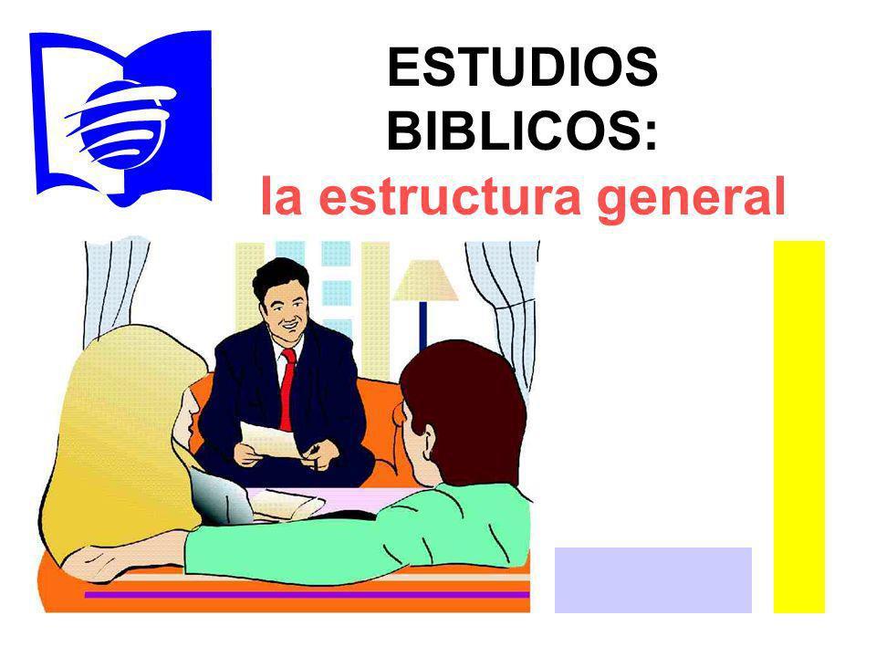 ESTUDIOS BIBLICOS: la estructura general