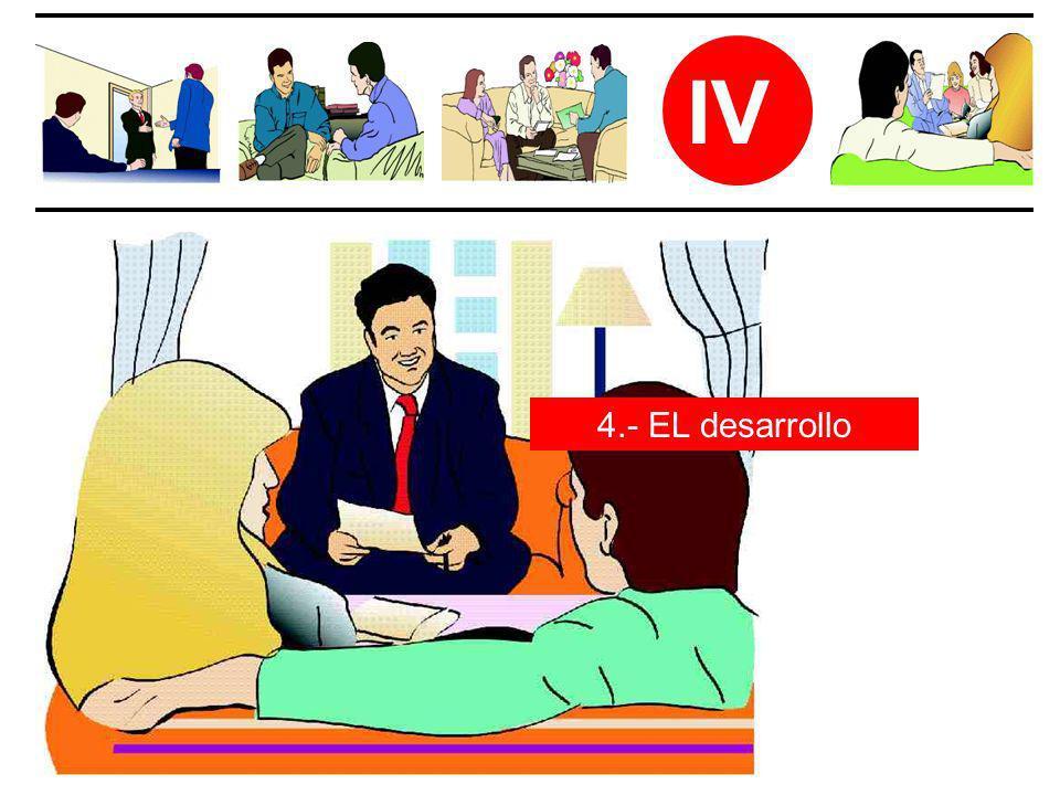 IV 4.- EL desarrollo
