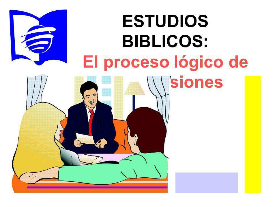 ESTUDIOS BIBLICOS: El proceso lógico de las decisiones