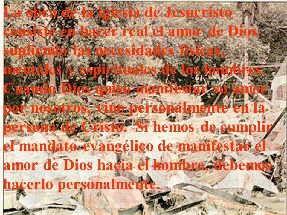 EL PROPOSITO DEL MINISTREIO DE SALUD Y BENEFICENCIA INSEPARABLE DEL MANDATO EVANGELICO El gran mandato coloca sobre la iglesia cristiana la responsabi