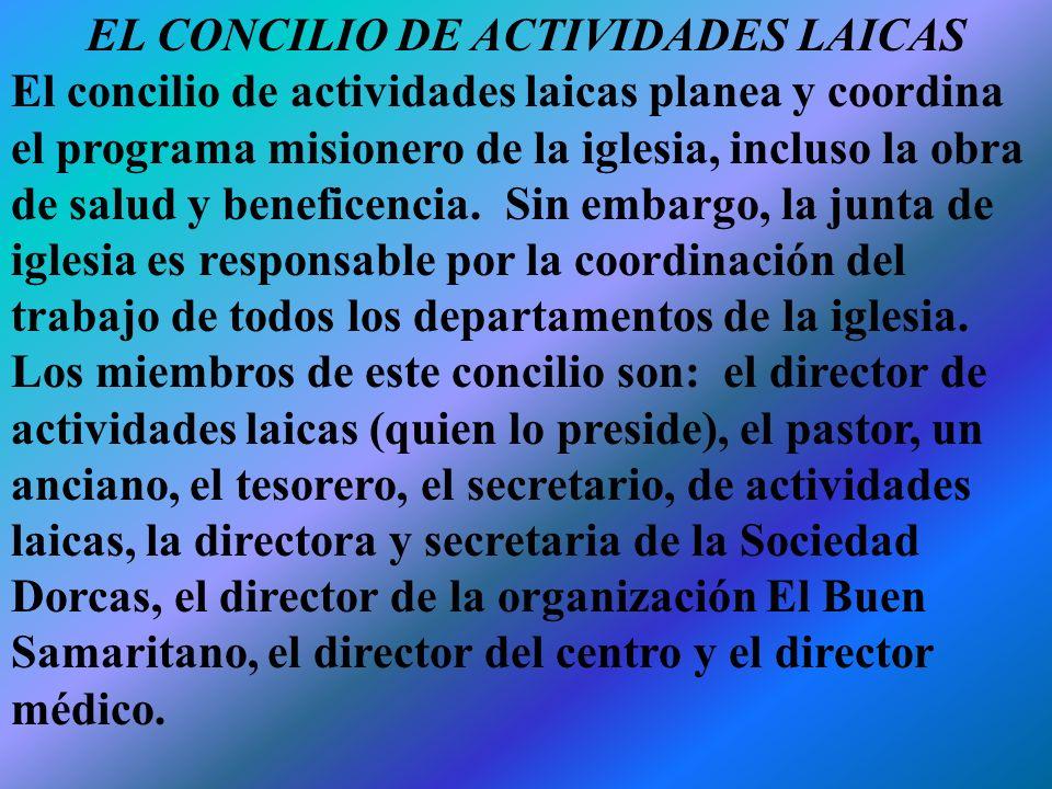 ORGANIZACIÓN DE LA OBRA DE BENEFICENCIA La organización de los servicios de salud y beneficencia de los adventistas del séptimo día al nivel de la iglesia local incluye lo siguiente: Obreros individuales de salud y beneficencia.