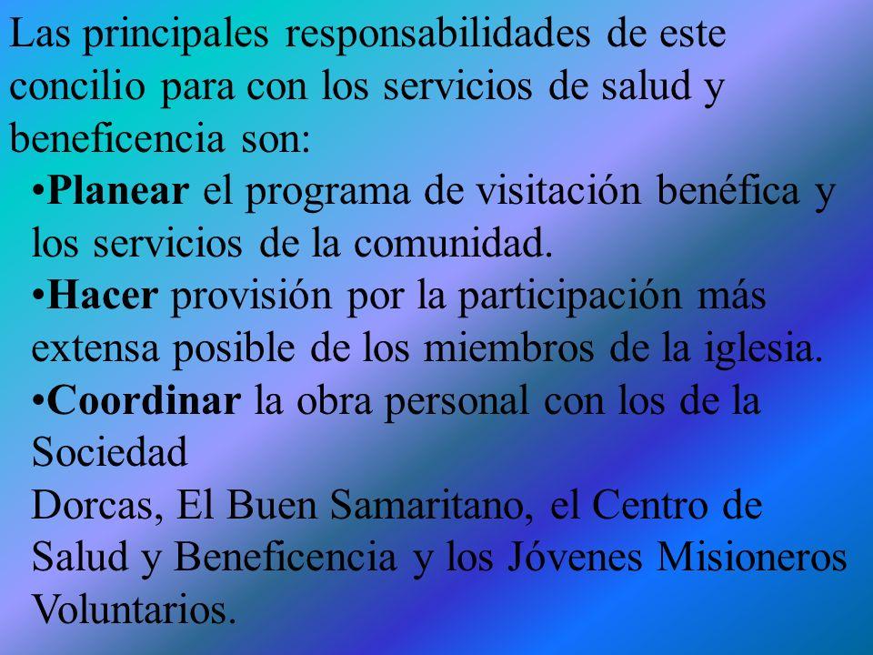 EL CONCILIO DE ACTIVIDADES LAICAS El concilio de actividades laicas planea y coordina el programa misionero de la iglesia, incluso la obra de salud y beneficencia.