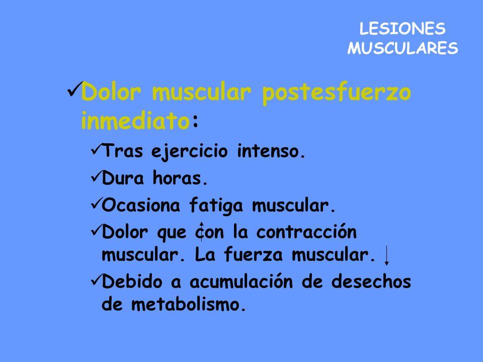 Gravedad: Leves: engloba a contusiones banales, calambres, dolor muscular postesfuerzo y contracturas.