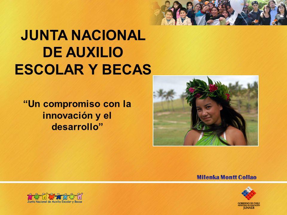 JUNTA NACIONAL DE AUXILIO ESCOLAR Y BECAS Un compromiso con la innovación y el desarrollo