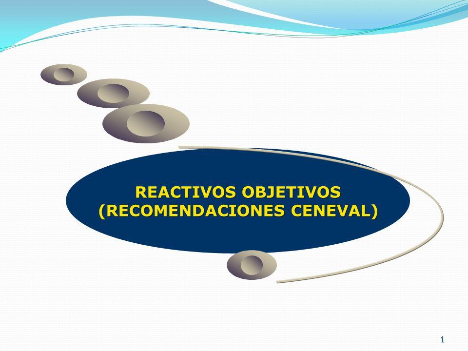 1 REACTIVOS OBJETIVOS (RECOMENDACIONES CENEVAL)