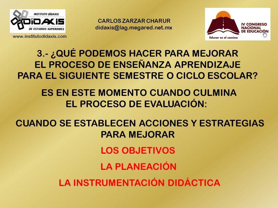 www.institutodidaxis.com CARLOS ZARZAR CHARUR didaxis@lag.megared.net.mx 2.- ¿A QUÉ SE DEBIÓ ESO, CUÁLES FUERON LAS CAUSAS O FACTORES QUE INFLUYERON E