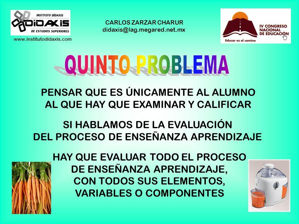 www.institutodidaxis.com CARLOS ZARZAR CHARUR didaxis@lag.megared.net.mx REDUCIR LAS PRUEBAS DE CONOCIMIENTO A LAS PRUEBAS OBJETIVAS, PORQUE SON MÁS F