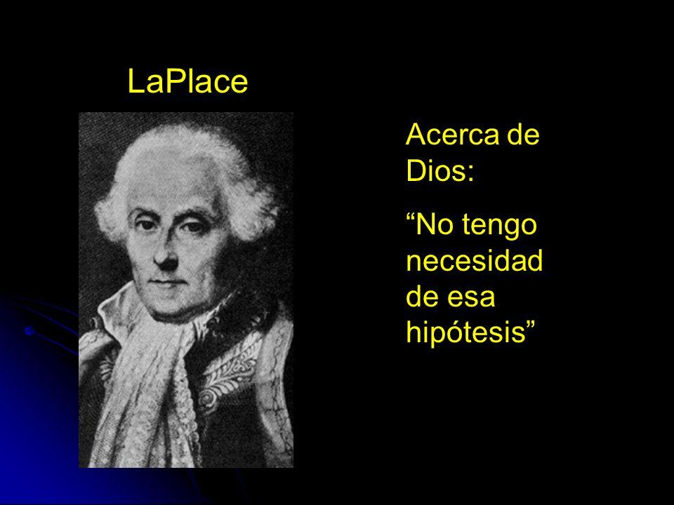 LaPlace Acerca de Dios: No tengo necesidad de esa hipótesis