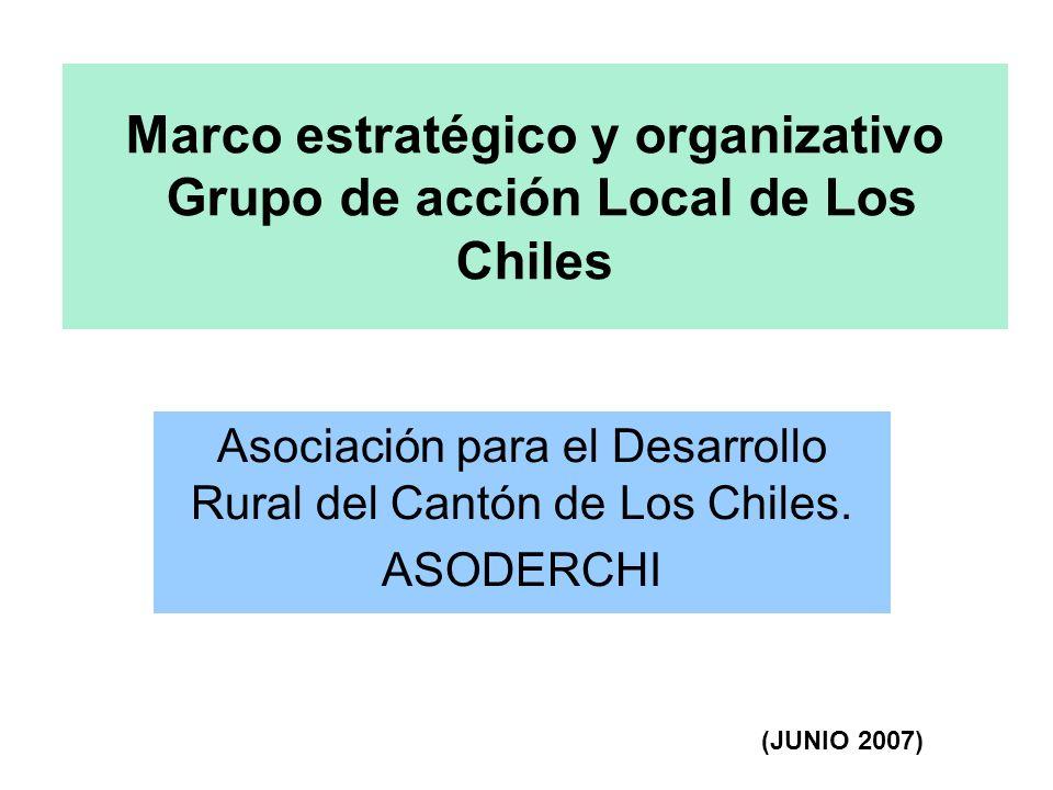 Marco estratégico y organizativo Grupo de acción Local de Los Chiles Asociación para el Desarrollo Rural del Cantón de Los Chiles.