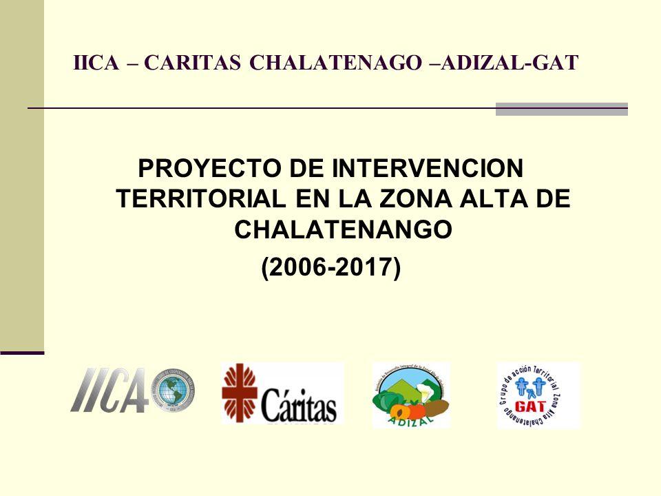 IICA – CARITAS CHALATENAGO –ADIZAL-GAT PROYECTO DE INTERVENCION TERRITORIAL EN LA ZONA ALTA DE CHALATENANGO (2006-2017)