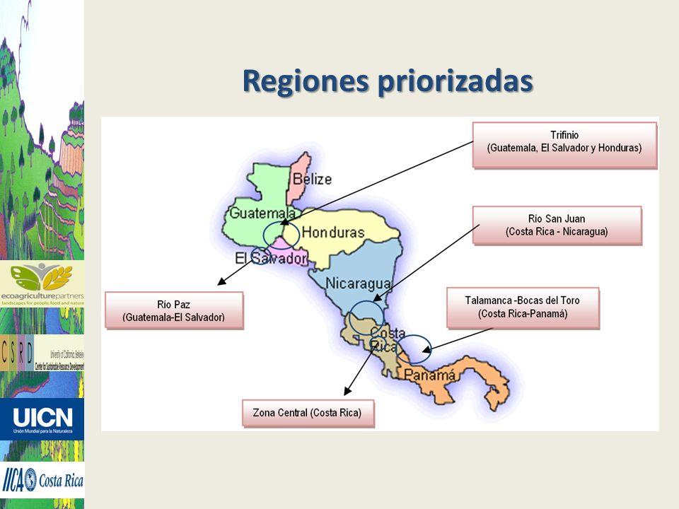 Regiones priorizadas