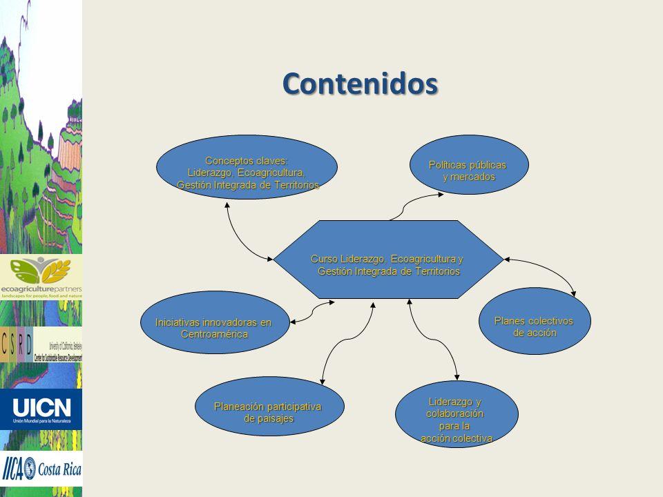 Contenidos Conceptos claves: Liderazgo, Ecoagricultura, Gestión Integrada de Territorios Gestión Integrada de Territorios Liderazgo y colaboración par