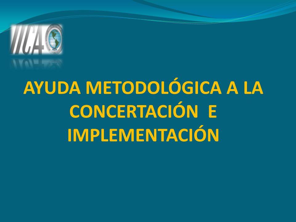 AYUDA METODOLÓGICA A LA CONCERTACIÓN E IMPLEMENTACIÓN