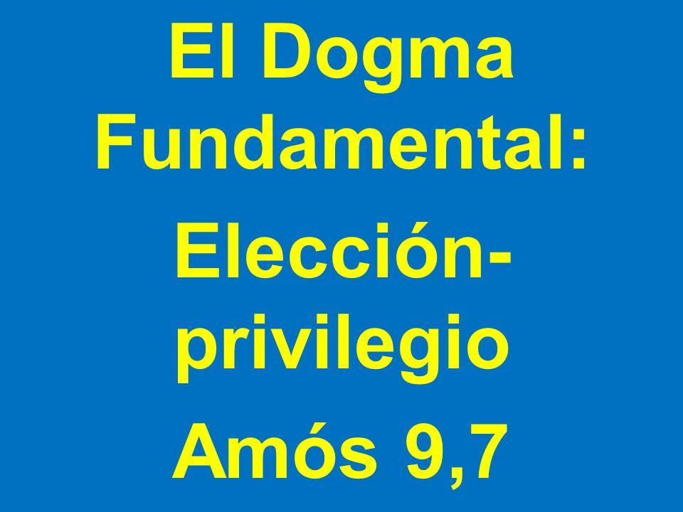 El Dogma Fundamental: Elección- privilegio Amós 9,7