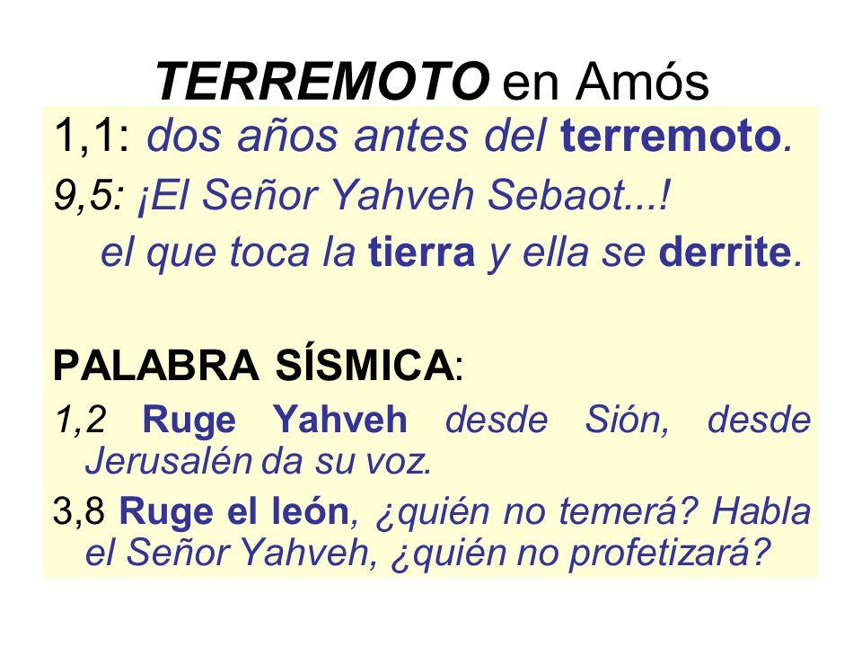 TERREMOTO en Amós 1,1: dos años antes del terremoto.