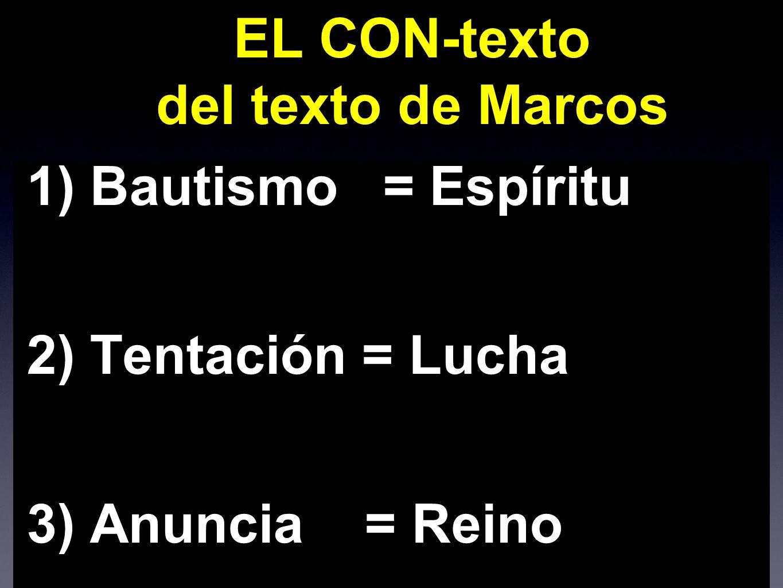 CON-texto del texto BAUTISMO (1,9-11) Bautizado por Juan.