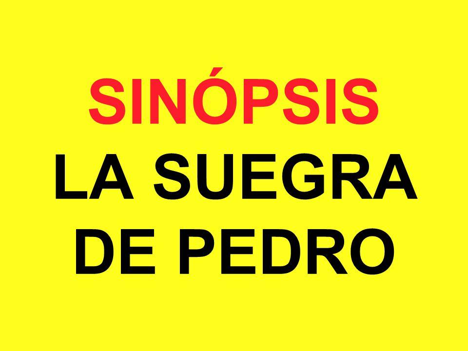 SINÓPSIS LA SUEGRA DE PEDRO