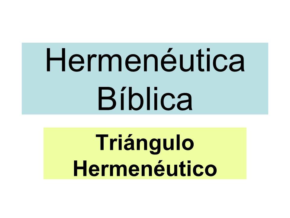Hermenéutica Bíblica Triángulo Hermenéutico
