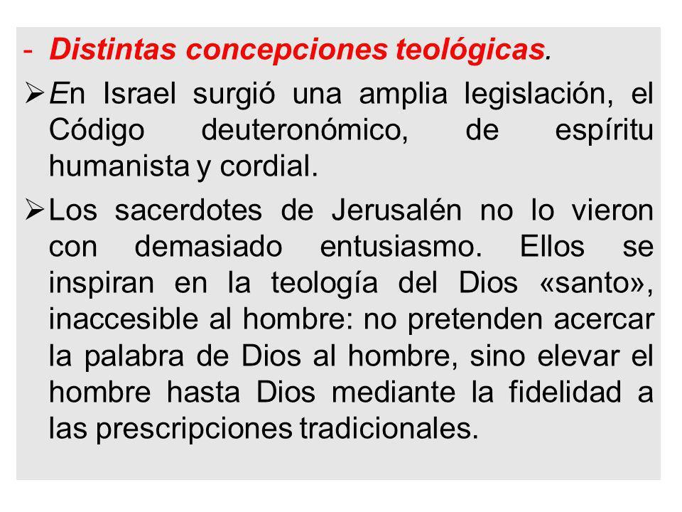 -Distintas concepciones teológicas.