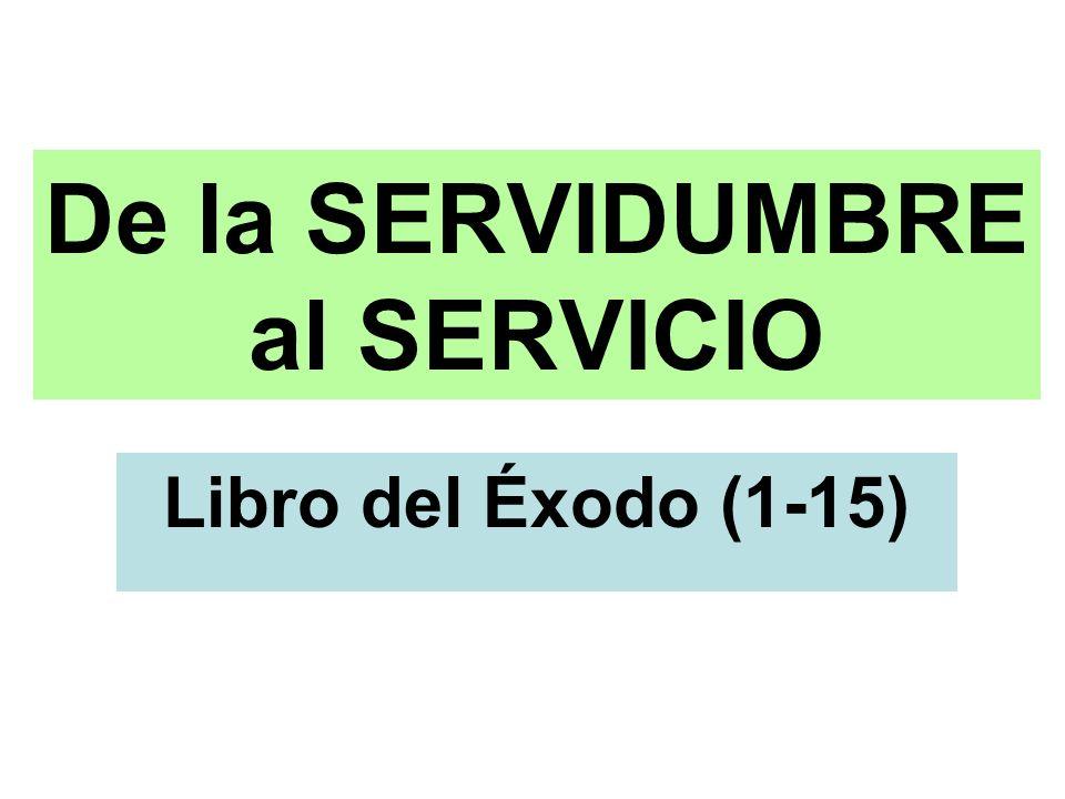 De la SERVIDUMBRE al SERVICIO Libro del Éxodo (1-15)