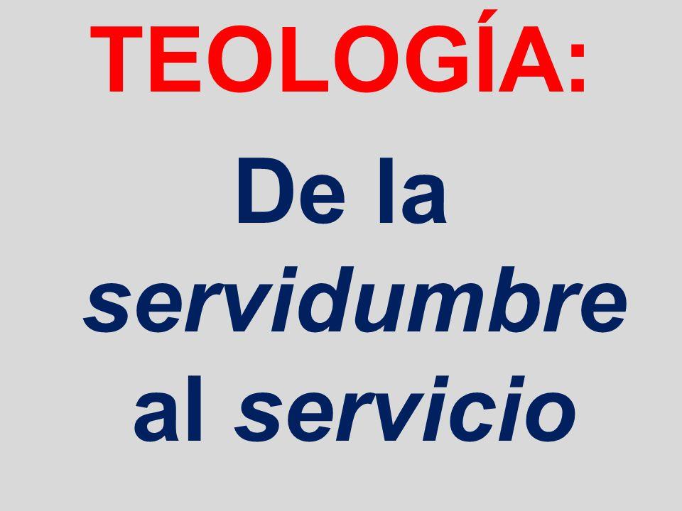 TEOLOGÍA: De la servidumbre al servicio