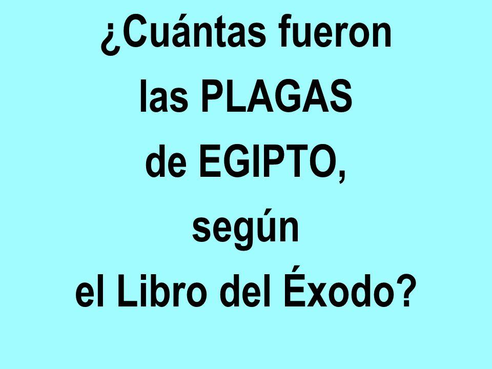 ¿Cuántas fueron las PLAGAS de EGIPTO, según el Libro del Éxodo?