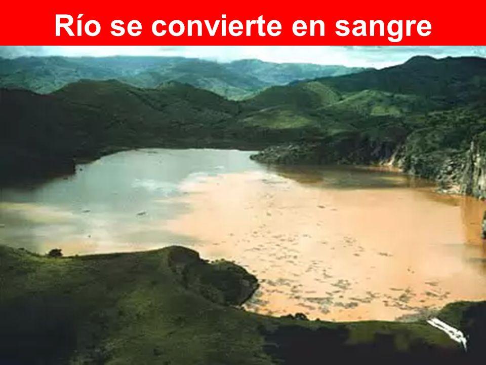 Río se convierte en sangre