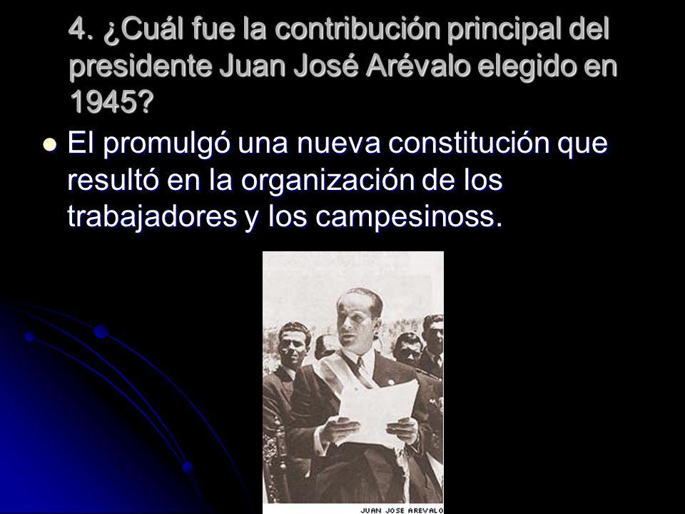 5.¿Quiénes se opusieron al gobierno del presidente Jacobo Arbenz en 1952.
