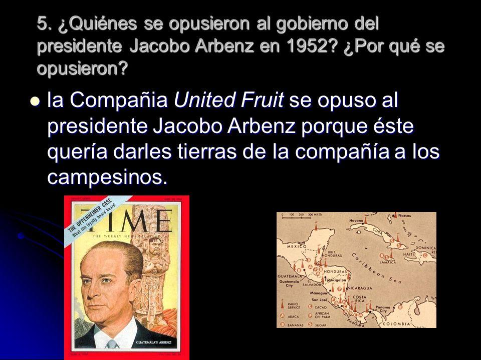 6.¿Qué militar dirigió la rebelión de 1954. ¿Resolvió esto los problemas que afrontaba Guatemala.