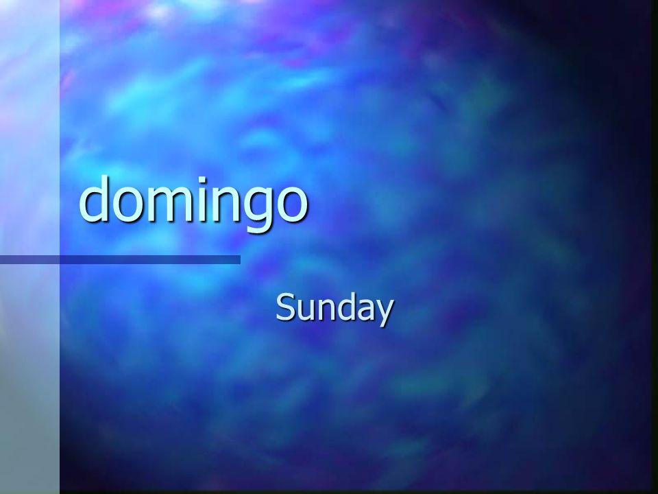 domingo Sunday