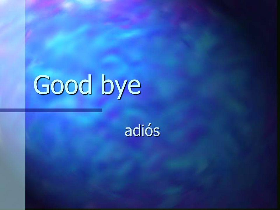 Good bye adiós