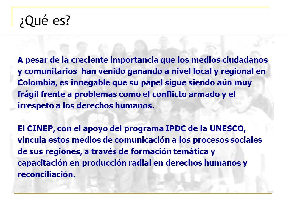 ¿Qué es? A pesar de la creciente importancia que los medios ciudadanos y comunitarios han venido ganando a nivel local y regional en Colombia, es inne