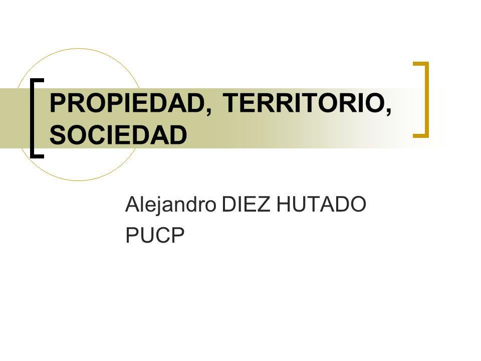 PROPIEDAD, TERRITORIO, SOCIEDAD Alejandro DIEZ HUTADO PUCP