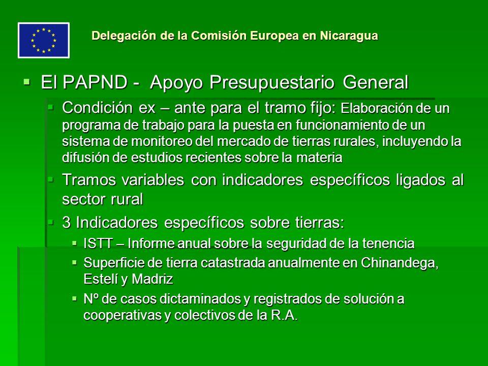 El PAPND - Apoyo Presupuestario General El PAPND - Apoyo Presupuestario General Condición ex – ante para el tramo fijo: Elaboración de un programa de
