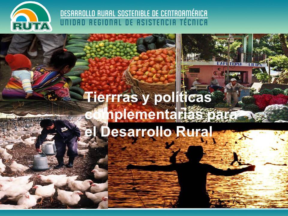 Evaluación las intervenciones significativas de los últimos 20 años (BM, BID, UE y otros) Legalización de tierras y mediación de conflictos Tierras y Políticas complementarias para el Desarrollo Rural (1/2)