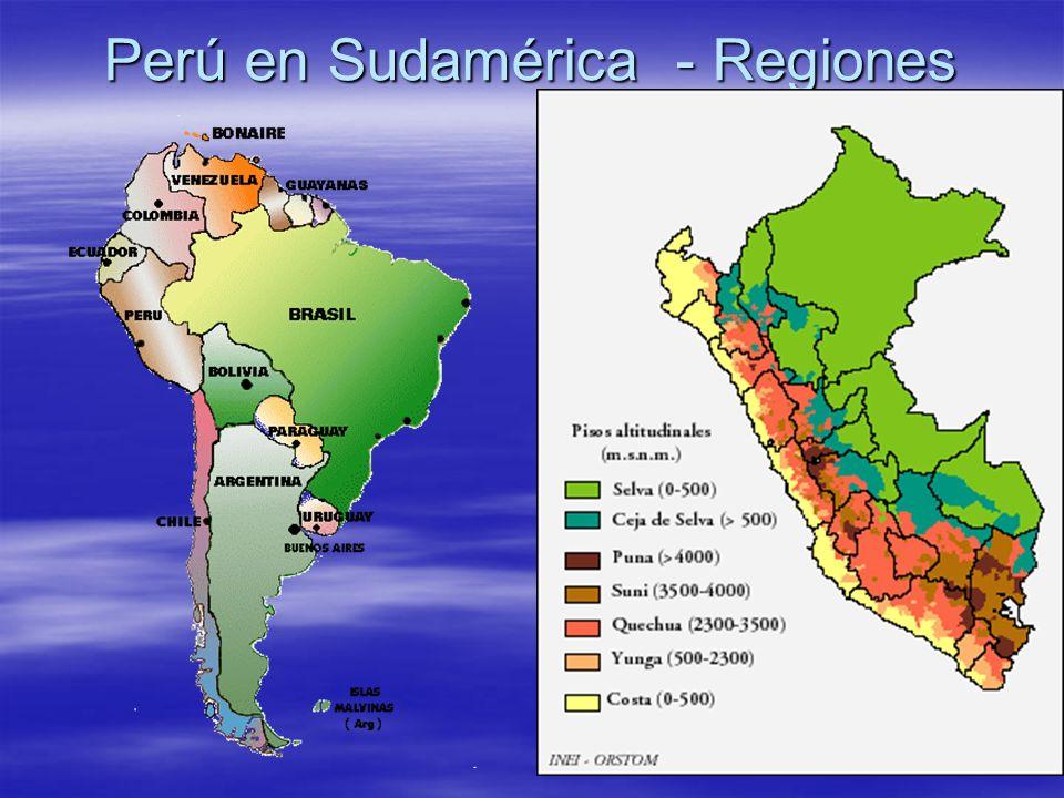 Perú en Sudamérica - Regiones