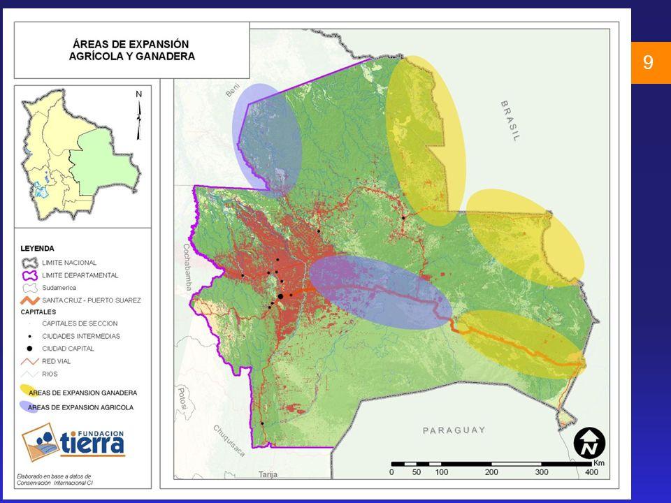 10 Fuente: MDSMA. Tomado de PNUD. La Otra Frontera 2008