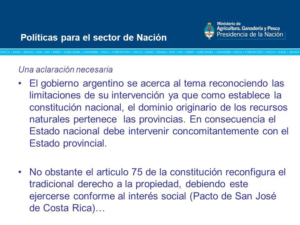 Título: Tipografía Arial / Versión: bold Cuerpo 16 a 18 / Color blanco Una aclaración necesaria El gobierno argentino se acerca al tema reconociendo l