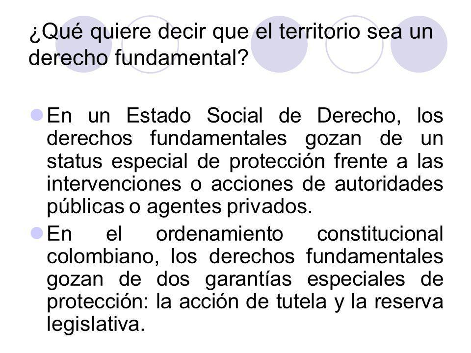 ¿Qué quiere decir que el territorio sea un derecho fundamental.
