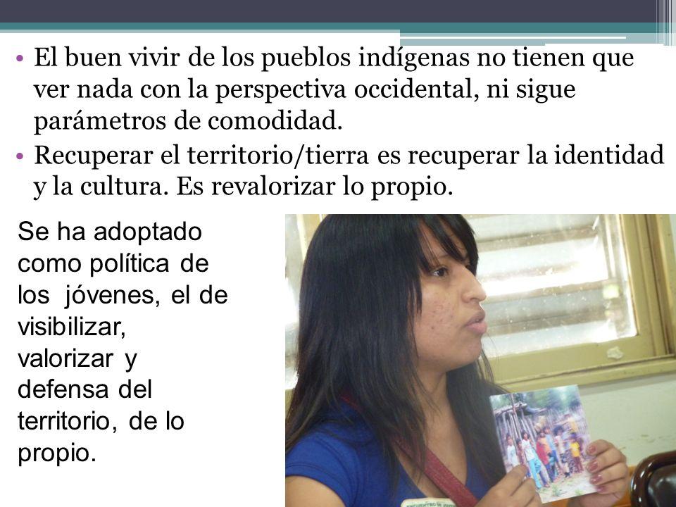 El buen vivir de los pueblos indígenas no tienen que ver nada con la perspectiva occidental, ni sigue parámetros de comodidad. Recuperar el territorio