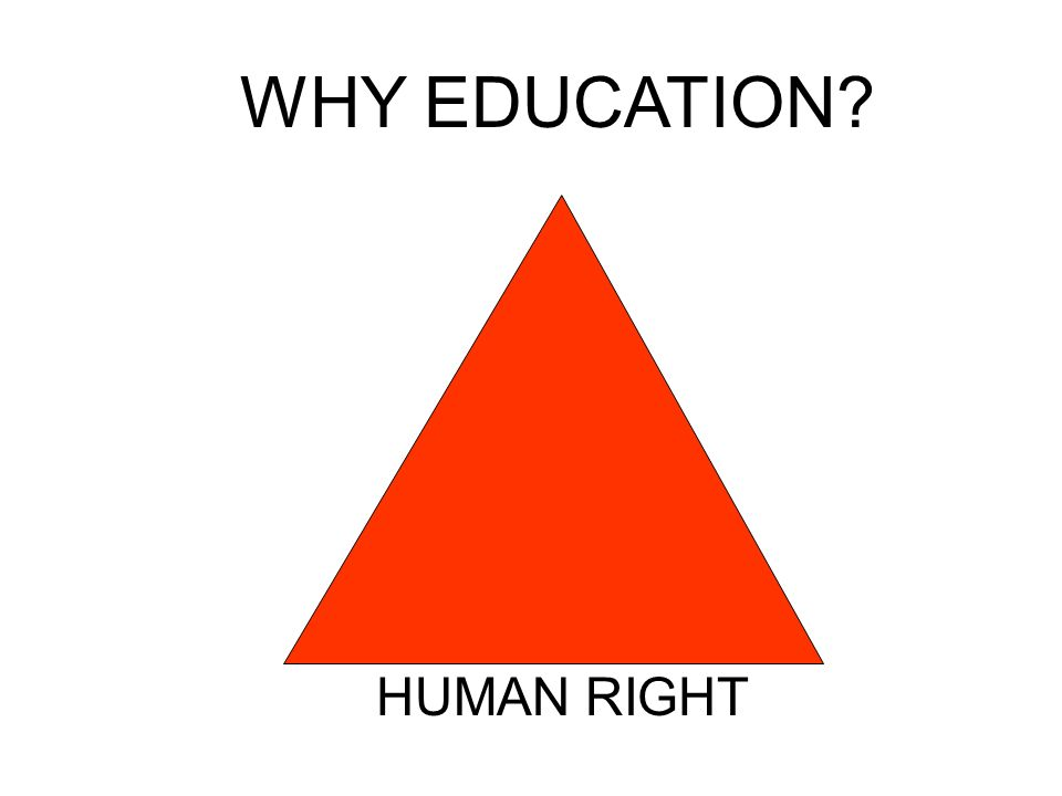 HUMAN RIGHT FREEDOM WHY EDUCATION?