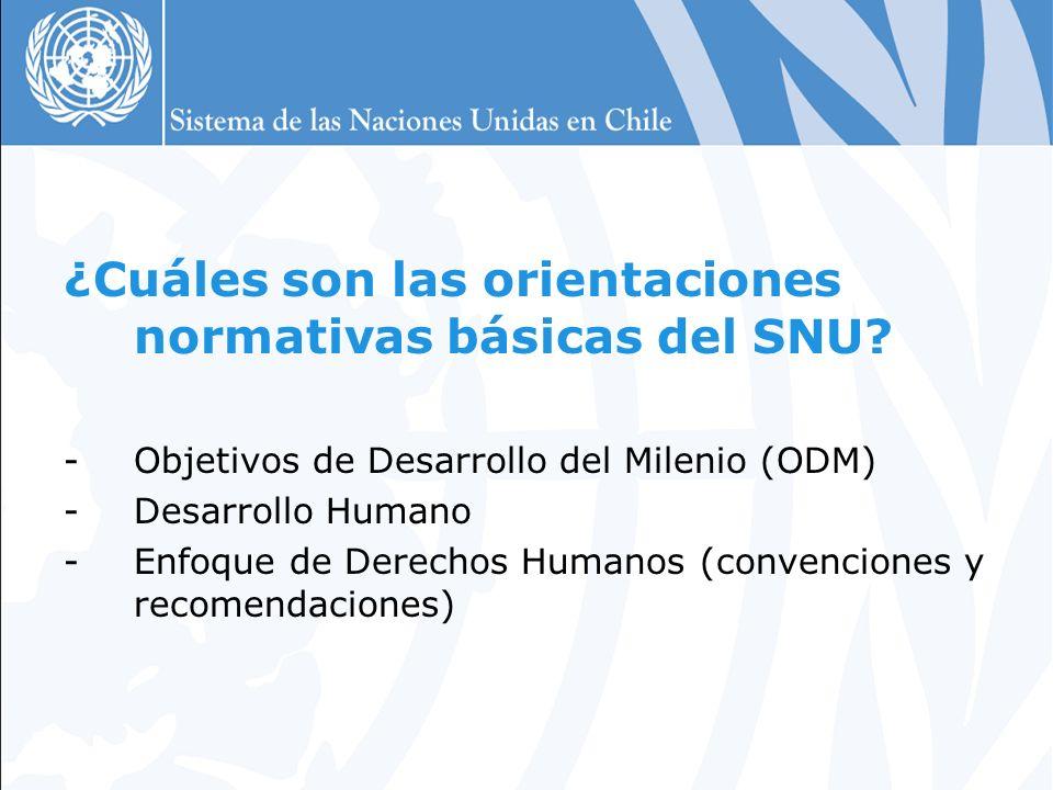 ¿Cuáles son las orientaciones normativas básicas del SNU.