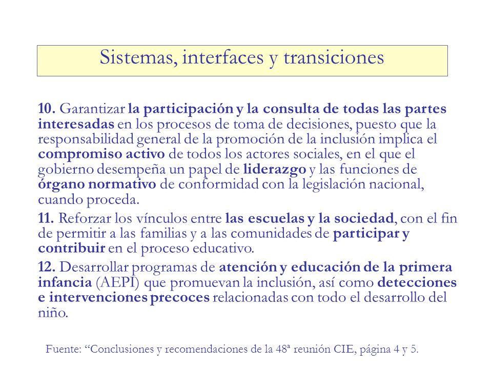 10. Garantizar la participación y la consulta de todas las partes interesadas en los procesos de toma de decisiones, puesto que la responsabilidad gen