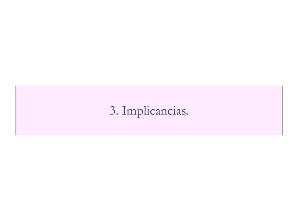 3. Implicancias.