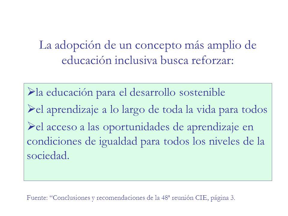 ACCIONES COMPENSATORIAS Justicia: concepción tradicional Desde políticas compensatorias a nivel nacional Sistema paralelo que mantiene la inequidad estructural